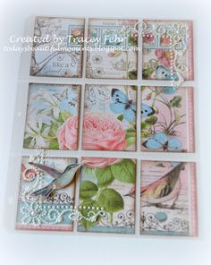 """A pocket letter I created using the Graphic 45 """"Botanical Tea"""" collection"""