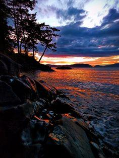 Sunset at Washington Park in Anacortes. Puget Sound, Washington State #PNW