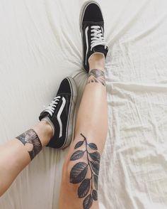 nice Красивые татуировки для девушек на ноге (50 фото) — Большие и маленькие