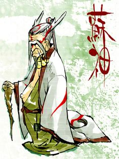 okami amaterasu human form male - Google Search