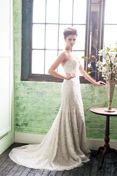 style | Cascading Goddess Gown from BHLDN | Something Blue ...