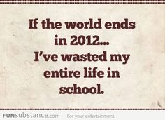 If the world ends...