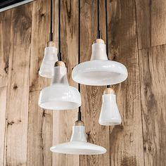 Shown in Opal with Oak Wood finish Shadow Large in Dining Room? Shadow Pendants in Kitchen?
