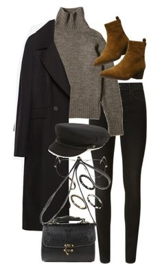 """Untitled #10003"" by nikka-phillips ❤ liked on Polyvore featuring J Brand, Via Spiga, ASOS, Zara, Ray-Ban and Brixton"