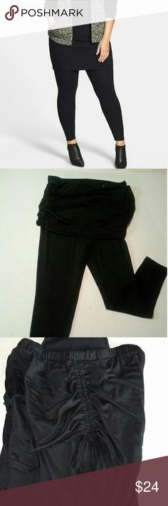 SKIRT LEGGINGS ~~ See Description Design as Shown Gently Used Condition Super Comfortable & Trendy :) Inseam is about 32   STOCK PHOTO TO SHOW DESIGN ONLY  NOT WHAT WE ARE SELLING THE LEGS ON PAIR FOR SALE ARE BOOT CUT online Pants Leggings
