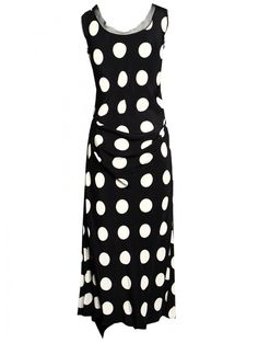Spotted Silk Dress Black