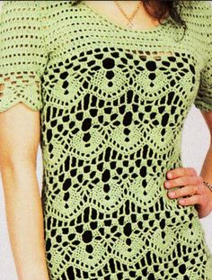 Vestido verde manzana crochet 3