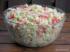 Surówka włoska Tzatziki, Vegetable Salad, Kraut, Guacamole, Feta, Salad Recipes, Potato Salad, Grilling, Food And Drink