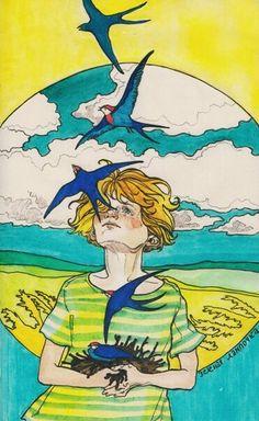 Love Drawings, Art Drawings, Green Lamp, Vintage Children, Love Art, Watercolor Art, Sketches, Gallery, Illustration