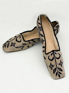 1830 silk shoes