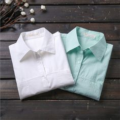 Check lastest price Fashion Women Shirts Blouses White Turn Down Collar Tops Cotton Blusas Femininas Long Sleeve Shirt Women Casual Female Clothing  just only $11.73 with free shipping worldwide  #womanblousesshirts Plese click on picture to see our special price for you