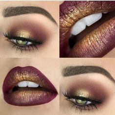 Pretty eyeshadow & lipstick makeup