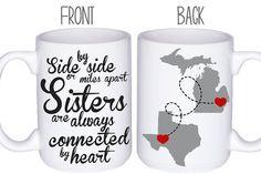 Sisters Mugs Coffee Mug Sister Gift Idea by DoTakeItPersonally