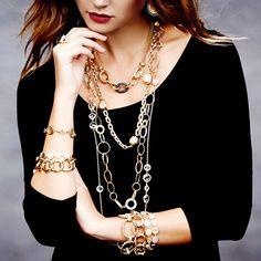 Rivka Friedman: Gilded in Gold -                                                                        18K Gold Clad Double Teardrop Cascading Disc Earrings                                 18K Gold Clad Satin Open Design Caged Teardrop Dangle Earrings                                 18K Gold Clad  Black Rhodium Rock...  #Bangle, #Brush, #Cap, #Charm, #Cushion, #Diamond, #Platinum, #PostBack, #Wavy