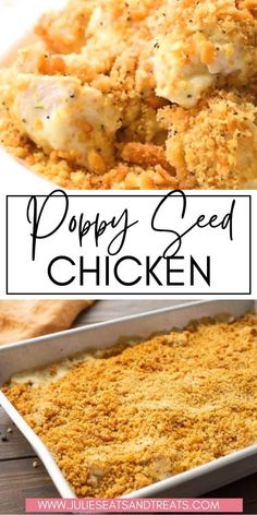 A delicious, classic casserole recipe that has it all! This Poppy Seed Chicken recipe is a simple, hearty dish that will have you reaching for more. Creamy chicken that is topped with an amazing buttery Ritz cracker mixture! This will be your new favorite dinner recipe that the entire family will love. Perfect for an easy weeknight dinner recipe. Snack Recipes, Dinner Recipes, Cooking Recipes, Dinner Ideas, Poppy Seed Chicken, Creamy Chicken, Main Meals, Quick Meals, Casserole Recipes