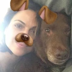 Awesome Lana and Lola Lana being funny using an adorable puppy filter in #SnapChat #VancouverBC #Canada 3-2017