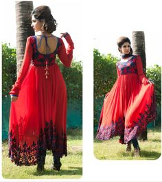 Salwar Kameez in Ethnic Red