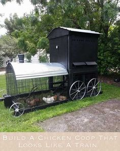 Build A Chicken Coop That Looks Like A Train- my boys would love it