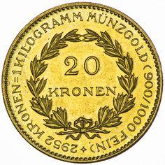 1. Republik-Bundesstaat 1918 - 1938, 20 Kronen 1923 Gold sogenannte Zollkronen, Auflage nur 6.988 Stück !!!