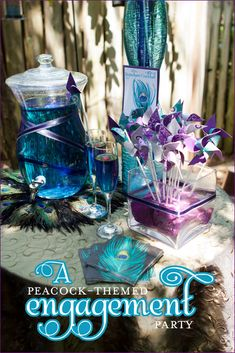 f5b93a79a6d I d like to do pretty peacock themed engagement party by BritsNGrits. Linda  Klop · Bridal Shower Ideas