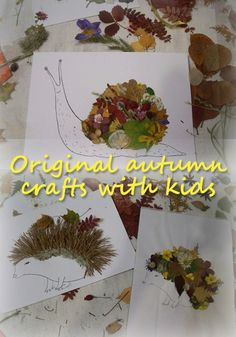 Original autumn crafts with kids