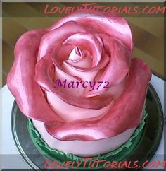 Rose cake tutorial...so cool. gonna try this out:)
