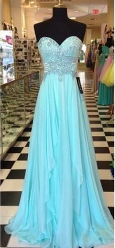 Strapless Long Beaded Chiffon Prom Dress with Draping