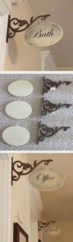 DIY Hallway Sign: Add a statement to your home decor with this easy DIY project!…
