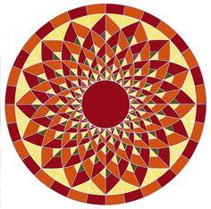 Pivoňka quilt - online kurz V tomto kurzu si ušijeme strojovou technikou ( šití na papír) kruhový quilt, který bude krásný, jak z klasických, tak i vánočních látek. Optická iluze nám vytvoří krásné oblé křivky. Kruh můžete zakomponovat i do čtverce. A hned máte z kulatého ubrusu čtvercový. Průměr kruhu je cca 1m. Jak nazvat tento kurz? Kaleidoskop, krasohled, ...