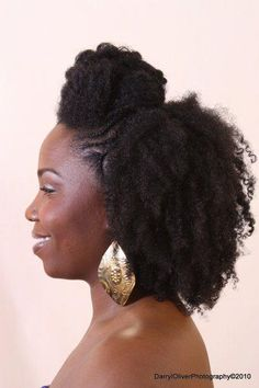 Pompadour Hairstyle | Black Women Natural Hairstyles