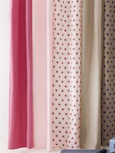Rideau imprim en coton avec oeillets raye gris blanc for Rideaux imprimes