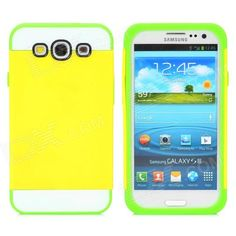 Brand: NX CASE; Quantity: 1 Piece; Color: Yellow + green; Material: Silicone; Compatible Models: Samsung S3 i9300; Packing List: 1 x Case; http://j.mp/1oPseMk