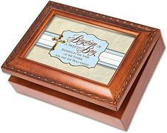 Baptism of a Sweet Boy Rich Woodgrain Finish Jewelry Music Box - Plays Amazing Grace *** You can find out more details at the link of the image.