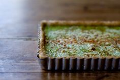 Honestly, I'm not totally sure what turnip greens are. But this turnip greens tart with cornmeal crust looks lovely. From 101 Cookbooks. Turnip Recipes, Veggie Recipes, Quiches, Yummy Veggie, Turnip Greens, Good Food, Yummy Food, Savory Tart, Food Obsession