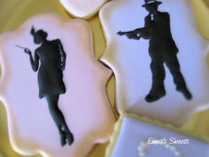 Flapper girl and ganster cookies. Gatsby Cookies, Edible Art, Party Themes, Projects To Try, Sweets, Flappers, 1920s, Inspired, Birthday