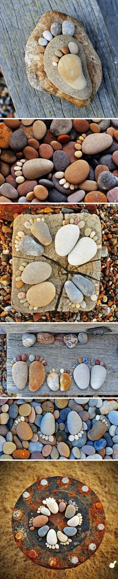 Garden rock art - 15 Easy DIY Garden Projects With Rocks And Stones Stone Crafts, Rock Crafts, Arts And Crafts, Art Crafts, Diy Garden Projects, Easy Diy Projects, Art Projects, Garden Ideas, Easy Garden