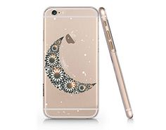 Crescent Moon Merry Christmas Clear Transparent Plastic Phone Case for iphone 6 6s_ SUPERTRAMPshop (VAS397) SUPERTRAMPshop