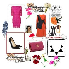 """Bez naslova #35"" by suadasuada ❤ liked on Polyvore featuring Lattori, Jimmy Choo, Prada, Dolce&Gabbana and L'Agence"
