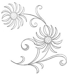 Embroidery pattern. Nappe - Broderie d'Antan