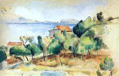Paul Cézanne - La baie de L Amedeo Modigliani, Mary Cassatt, Camille Pissarro, Edgar Degas, Monet, Paul Cezanne Paintings, Caspar David Friedrich, Edvard Munch, Joan Mitchell