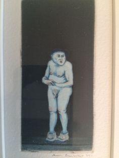 Arne Bendik Sjur, Liten blå mann, 1974 Figurative, Disney Characters, Fictional Characters, Disney Princess, Painting, Art, Kunst, Art Background, Painting Art