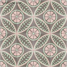 Soft colours of pink and grey compliment each other so well in this beautiful tile print. Printed ceramic tile, in a soft colour scheme , the colours really work well together , I'm generally not fond of soft muted tones , but these are quite effective when combined together!