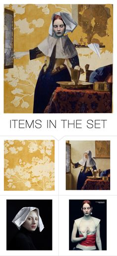 """""""I dreamt of Vermeer"""" by pensivepeacock ❤ liked on Polyvore featuring art"""