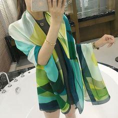 Luna&Dolphin new brand Women Silk scarf Beach Shawl and Echarpe Luxurious Wrap of  Designer scarves Plus Size female beach stole