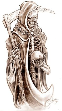 Grim Reaper Tattoo Design Picture