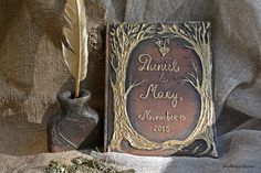 Tree of life guest book  Wedding Rustic guest book  by Indrasideas