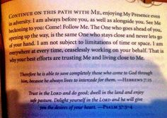 This page from Jesus Calling was posted on FB by a friend who's son recently died.  Great reminder for all of us who experience long, dark valleys in life.