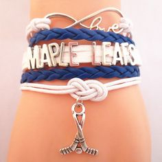TODAY'S SPECIAL OFFER BUY 1 OR MORE, GET 1 FREE - $19.99! Limited time offer - Infinity Love Toronto Maple Leafs Hockey Team Bracelet on Sale. Buy one or more bracelets and we will give you one extra