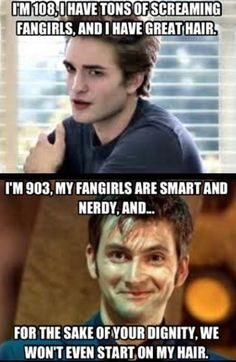 David Tennant definitely wins