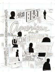Daniel Clowes | Original of cover art from The Best American Non Required Reading 2003